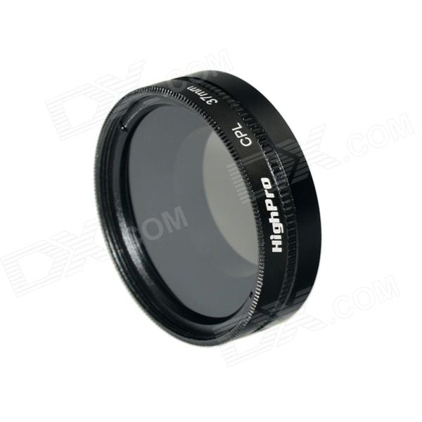 HighPro 37mm CPL Filter Circular Polarizer Lens Filter for Gopro Hero 4/3+ / Hero3 - Black