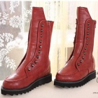 1792 Leisure Increased Female Rivet Martin Boots - Red (Size-39)