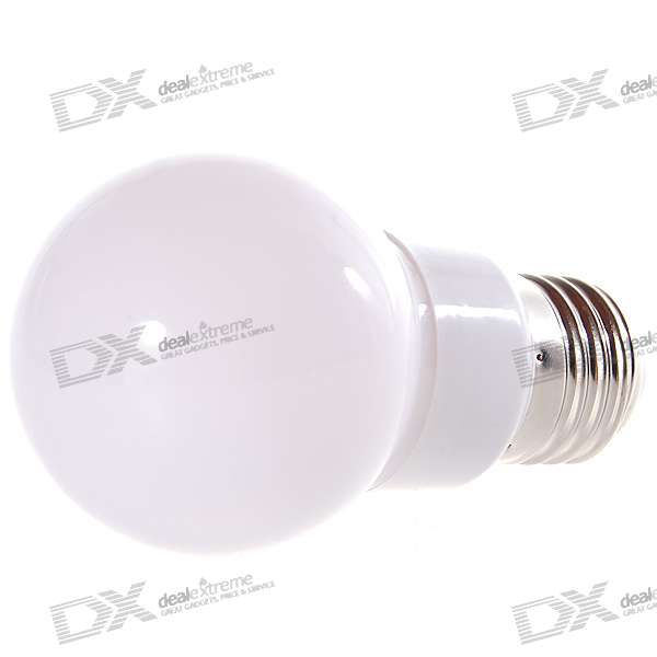 E27 60LM 3500K Warm White 12-LED Globular Bulb (180~240V AC)