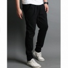 Fashionable Men's Casual Sport Pants - Black (Size-M)