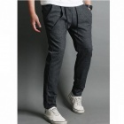 Fashionable Men's Casual Sport Pants - Dark Grey (Size-L)