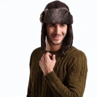 Stylish Men's Ear Warm Hat - Brown