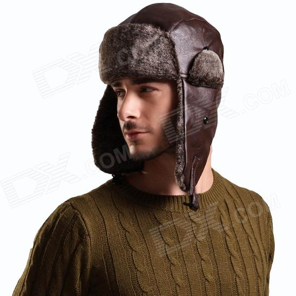 f38dfc792a7 Stylish Men s Ear Warm Hat - Brown - Free Shipping - DealExtreme