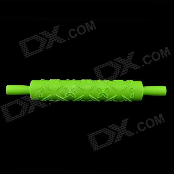 Фото Floral Pattern Sugar Cake Embossing Stick / Mold Rolling Pin - Green