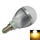 XinYiTong E14 7W 600lm 3500K 15 x SMD 5630 LED Warm White Light Bulb - Silver + White (85~265V)