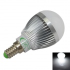 XinYiTong E14 7W 600lm 6500K 15 x SMD 5630 LED White Light Bulb - Silver + White (AC 85~265V)