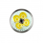 KindFire MR16 4 x 1W 240lm 3500K 4-LED varm hvit lys Spotlight - Silver + skrive (DC 12 ~ 24V)