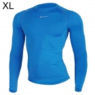 NUCKILY MH003 Outdoor Sport Cycling Men's Long-Sleeve Jersey Clothing - Blue (Size XL)