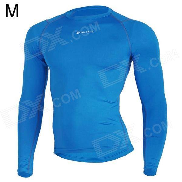 NUCKILY MH003 Outdoor Sport Cycling Men's Long-Sleeve Jersey Clothing - Blue (Size M) заболевания двенадцатиперстной кишки