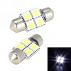 Merdia Festoon 31mm 1W 50lm 4 x SMD 5050 LED White Light Car Dome Light Bulb - (12V / 2 PCS)