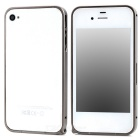 Fashion Aluminum Alloy Protective Bumper Frame for Iphone 4 / 4s - Khaki