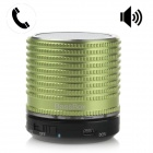 DF-B11 BassBox Portable Bluetooth V2.1 Speaker w/ TF / Microphone / AUX Input - Green + Black