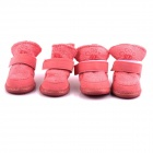 PANNOVO DOG-17-3 Winter Shoes Boots for Pet Dog - Pink (Size-L / 4 PCS)