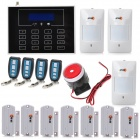 DP-60 GSM Home Alarm System w/ Wireless Sensors Set - Black
