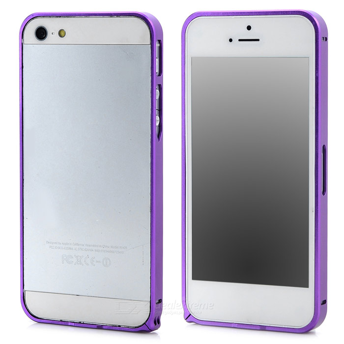 Fashion Protective Aluminum Alloy Bumper Frame for Iphone 5 / 5s - Purple