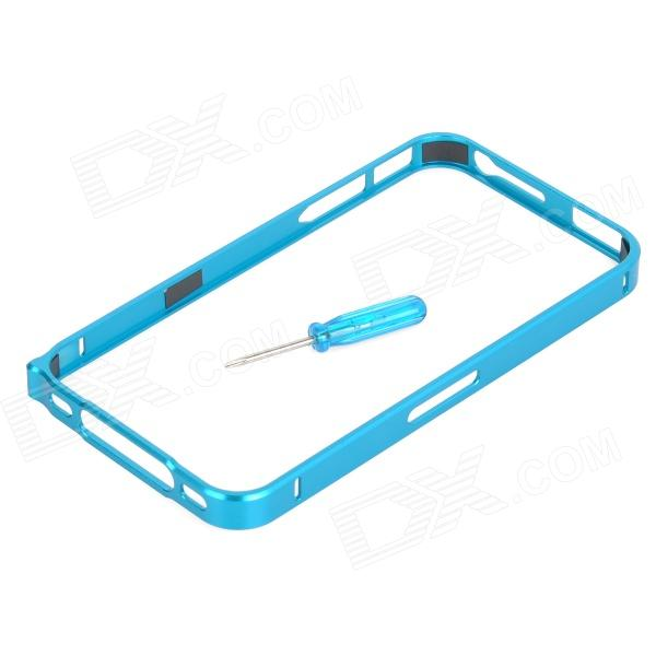 Protective Aluminum Alloy Bumper Frame Case for Iphone 4 / 4s - Blue
