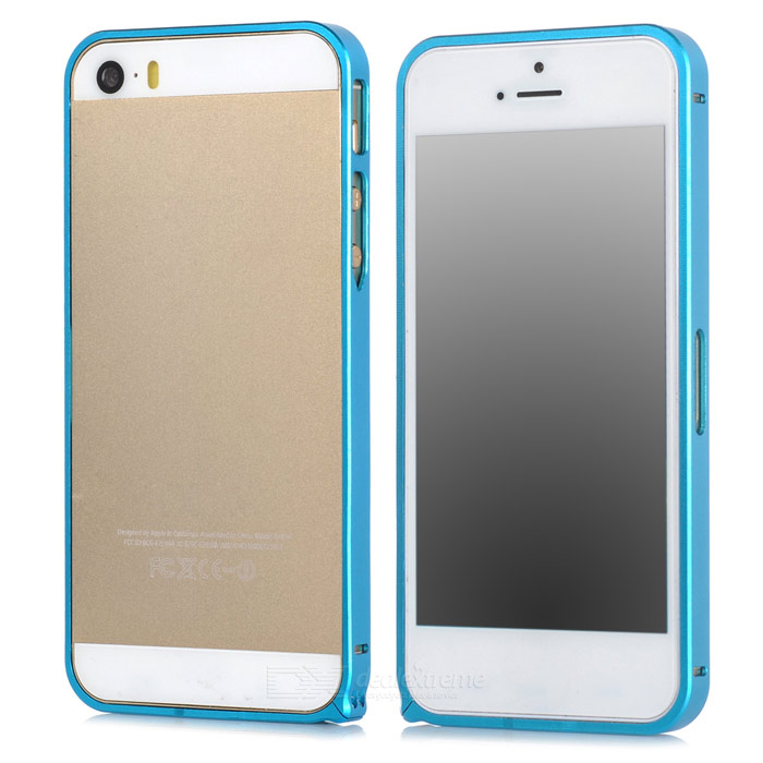 Protective Aluminum Alloy Bumper Frame Case for Iphone 5 / 5s - Blue protective aluminum alloy bumper frame case for iphone 5 5s black