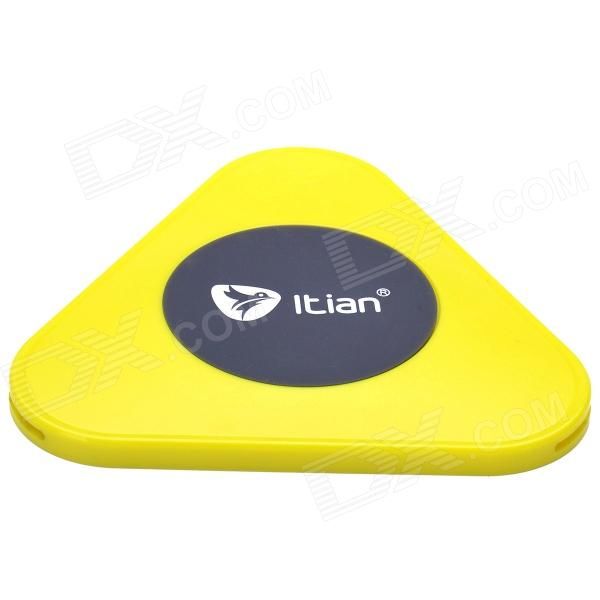 Itian A3 Qi Standard Mobile Wireless Power Charger for Nokia Lumia 920 / LG Nexus 4 + More - Yellow t2 mini qi wireless charger pad for lg e960 google nexus 4 2g nokia lumia 920 white black