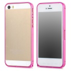 Stylish Protective Aluminum Alloy Bumper Frame Case for Iphone 5 / 5s - Deep Pink