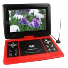 "Portable 13.1"" LCD Mobile DVD Player w/ TV, FM, SD Card Reader, Game and USB - Red"