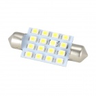 Merdia Festoon 41mm 4W 250lm 16 x SMD 3528 LED White Car Steering / Backup Light - (12V / 2 PCS)