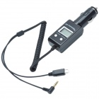 "CHEERLINK 0.9"" LCD Screen Car MP3 Music Player w/ FM Transmitter - Black"