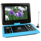 "Portable 13.1"" LCD Mobile DVD Player w/ TV, FM, SD Card Reader, Game and USB - Light Blue"