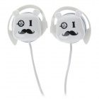 Sibyl G9 Stylish Stereo Ear Hook Headphones - White + Black (3.5mm Plug / 112cm-Cable)