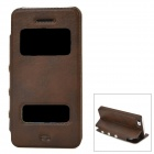 Protective PU Leather + Plastic Flip-open Case for Iphone 5C - Brown
