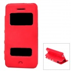 Protective PU Leather Flip-open Case for Iphone 5C - Red