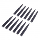 YIYUAN YI-142 Bullet Style Door Guard Protector Decorative Sticker for Auto Car - Black (12 PCS)