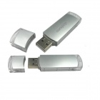 Ourspop U010 -16GB liga de alumínio USB 2.0 USB Flash Drive - Prata + Transparente (16GB)