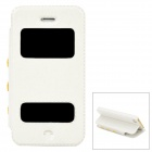 Protective PU Leather Flip-open Case for Iphone 5 / 5s - White
