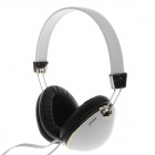 SONUN SN-T6 Foldable 3.5mm Plug Stereo Headphone w/ Microphone for Cell Phone / PC - White + Black