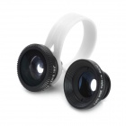 Universal 3-in-1 Clip On Fish Eye+ Macro Lens+ 0.67X Wide Angle Lens for Cell Phone - Black