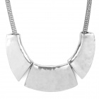 Fashionable Retro 3-piece Pendant Zinc Alloy Necklace - Antique Silver