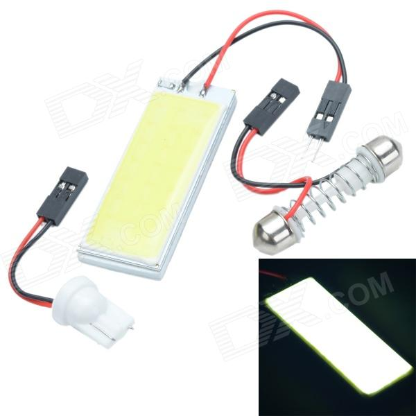 Cheerlink T10 3W 300lm 24-COB LED White Light Car Roof Light - (12V)