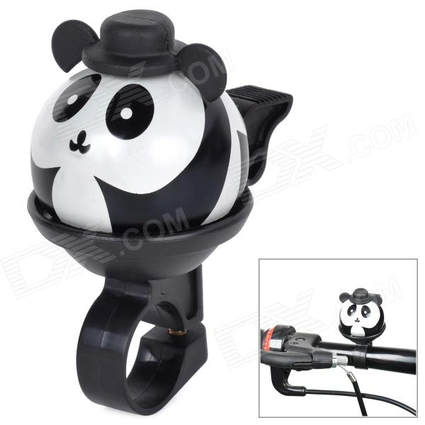 Cute Panda Cartoon Style Aluminum Alloy + Plastic Bike Bell - Black