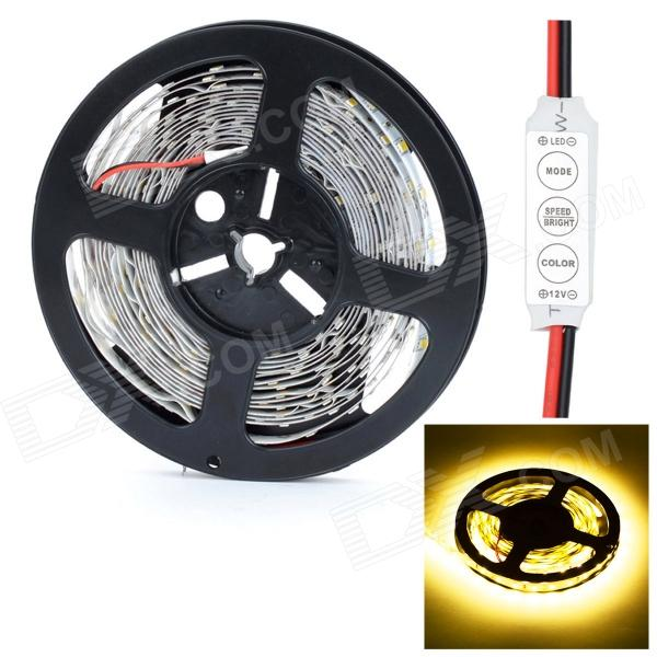 HML 72W 14000lm 3300K 300 x SMD 5730 LED Warm White Light Strip w/ Mini Controller - (5M / 12V) цена