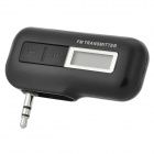 "0.7"" LCD Wireless Music Car FM Transmitter w/ Foldable 3.5mm Plug + Micro USB - Black + Silver"