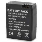 AHDBT-301 Full -Decode 1300mAh Replacement Li-ion-Battery for GoPro Hero 3/3+ - Black (3.7V)