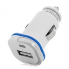 H-003 5V 1A Car Cigarette Lighter Charger w/ LED - White + Blue (12~24V)