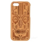 Totem Pattern Protective Back Case for Iphone 5C - Light Brown