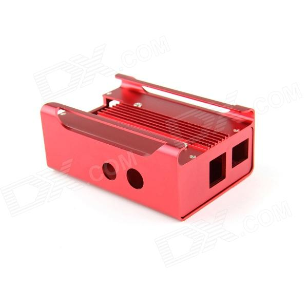 High Quality Protective Aluminum Alloy Case Enclosure Box for Raspberry PI Model B - Red maisto jeep wrangler rubicon fire engine 1 18 scale alloy model metal diecast car toys high quality collection kids toys gift