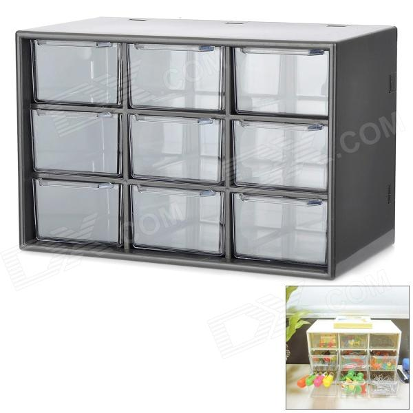 Mini 9-Drawer PP Storage Case - Transparent + Black long curly two tone purple synthetic lace front cosplay party wig