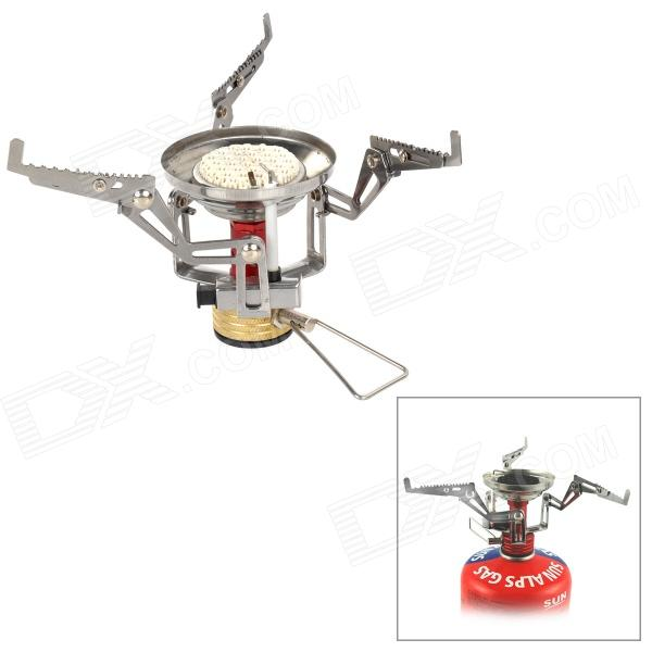 LJ LJ-7003 Outdoor Stainless Steel Infrared Gas Stove w/ Cup - Silver