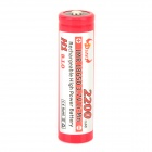 "MKJ 3.7V ""2200mAh"" Rechargeable 18650 Li-ion Battery - Red + Silver"