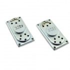 Jtron Square 4 ohms 2W 4020MM Speakers - Silver (2 PCS)