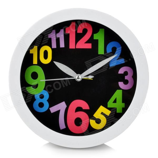 H2XD Stylish Plastic Table Clock / Alarm - White (1 x AA)