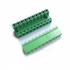 Jtron PBC Pluggable / Terminal Block Connector / 2EDG 5.08 10P Curved Needle - Green (2 PCS)